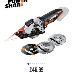 Worx 20v mini compact saw - £46.99 @ Argos