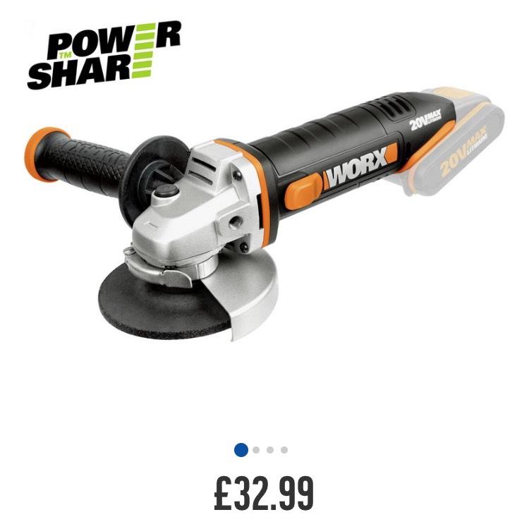 Worx 20v angle grinder £32.99 @ Argos