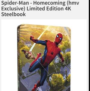 Spider-man Homecoming Limited Edition 4K £24.99 @ HMV