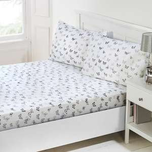 Butterfly Fitted Sheet Set 3pc £2.99 @ B&M in-store