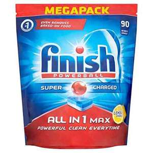 Finish All-in-1 Max Lemon Dishwasher Tablets (Pack of 90) £10.50 (Prime) / £15.25 (non Prime) at Amazon