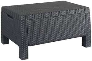 Keter Corfu Outdoor Garden Coffee Table with Storage - Graphite £24.99 - Amazon