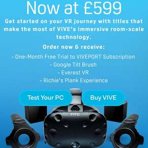 HTC Vive now £599 on official website. NOT a price cut for preparing new generation.
