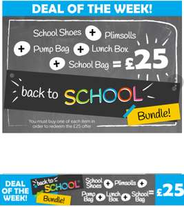 Shoe zone £25 school bundle