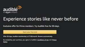 Exclusive offer for Amazon Prime members. Try Audible free for 90-days (New Customers Only)