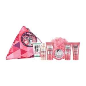 soap and glory pink pamper  set, was £18 for 1- now £9 for 3 sets! boots