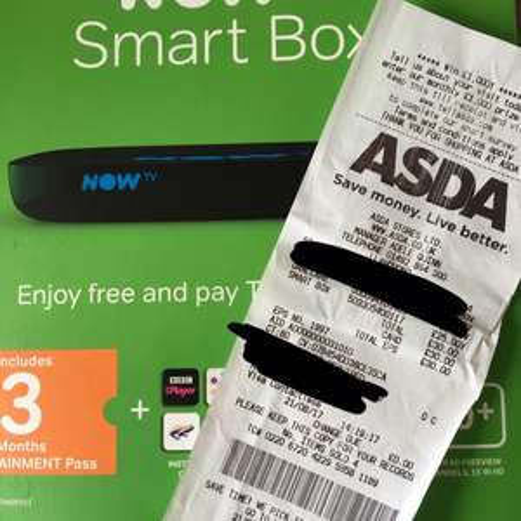 Now tv smart box with 3 month pass £25 @ Asda - Llandudno