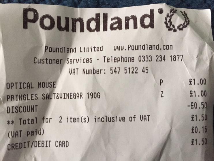 Pringles scanning in 50p instore @ Poundland - St Helens