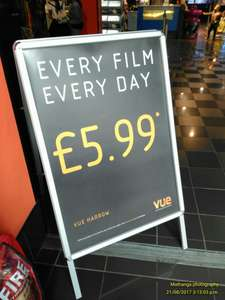 All cinema tickets £5.99 @ Vue - Harrow