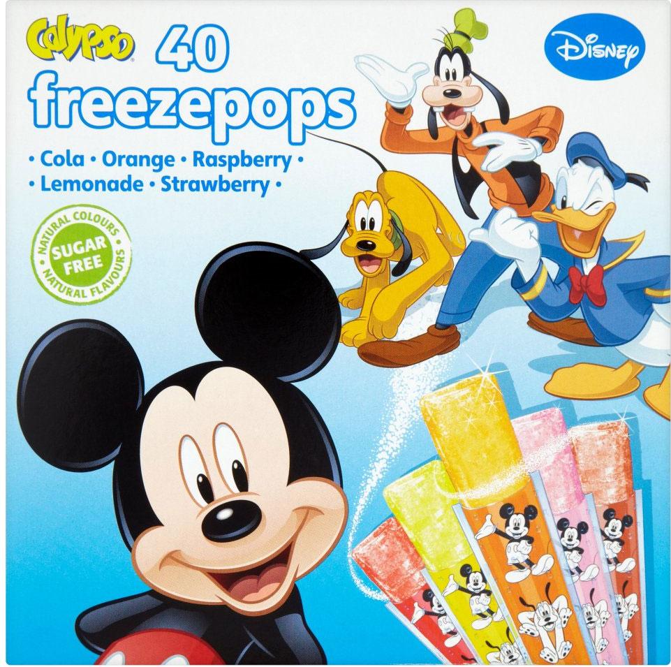 Calypso Disney Freezepops 40 x 20ml ONLY £1.00 / Disney Frozen Freezepops 20 x 35ml (700ml) ONLY £1.00 @ Iceland