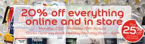20% off all products @ Dulux Decorator Centre