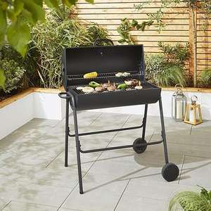 Tesco Charcoal Barrel BBQ with Cover £32 @ Tesco (Free C&C)
