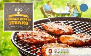 Tesco Cajun Chicken Steaks (4 Pack = 400g) was £3.00 now 3 x 4 packs for £5.00 @ Tesco