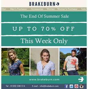 Brakeburn Up to 70% Sale (+extra 20% off with newsletter sign up)