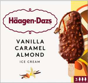 Häagen-Dazs Salted Caramel Ice Cream Bars (3 x 80ml) was £3.48 now £2.00 @ Morrisons