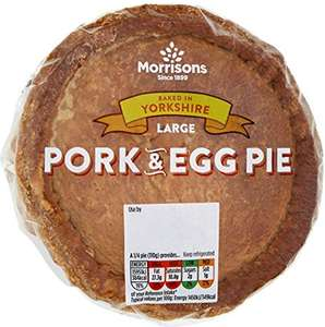 Morrisons Large Pork Pie (440g) Morrisons Large Pork & Egg Pie (440g) was £2.00 now £1.00 @ Morrisons