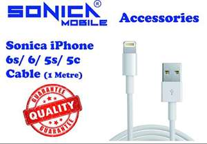 [Apple MFI Certified] Sonica® Lightning Cable For Iphone 6 5 5s USB Charger Data Cable Sync 1M - Lifetime Guarantee £1.89 delivered @ Amazon (seller Lifeessentials11)