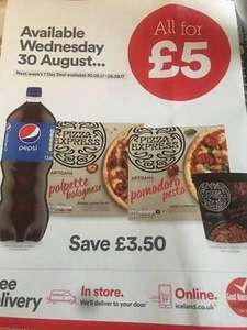 Iceland Meal Deal 2x Pizza Express, Ice Cream & Pepsi £5 (Live from 30th Aug)