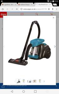 Bissell Compact Pet Bagless Cylinder Vacuum Cleaner - £35.99 @ Argos (C&C)