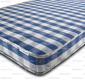 Double mattress - Open Coil Medium Firmness 15cm depth - £47.50 delivered next day @ Bedfactory / ebay