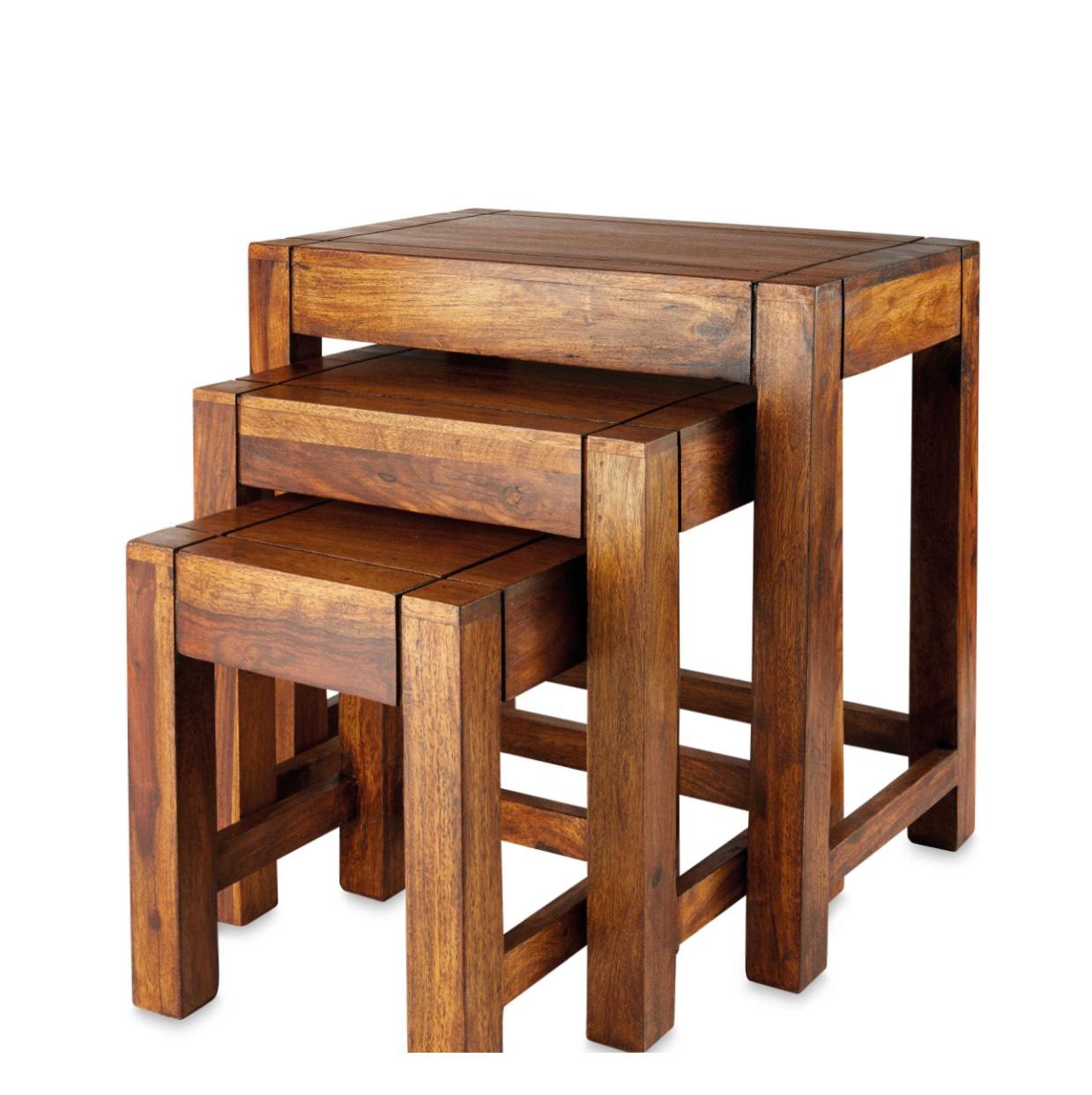 Sheesham Wood Nesting Tables £39.99 @ Aldi