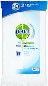 Dettol Anti-bacterial Surface cleanser wipes 84s (£3.60 each or) 2 for £2.56 with Waitrose MyPicks