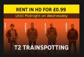 99p T2 Trainspotting Digital HD Rental at Rakuten TV