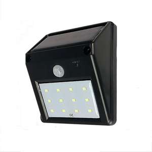 12-LED Solar Powered PIR Motion Sensor Light Outdoor Garden Security Wall Light £5.60 Delivered w/code @ TMart