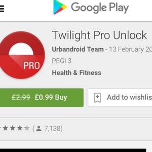 TWILIGHT PRO UNLOCK £0.99 @ GOOGLE PLAY STORE