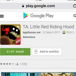 TA: Little Red Riding Hood - FREE @ GOOGLE PLAY STORE