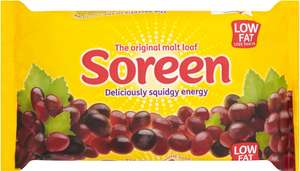 Soreen The Original or Banana or Chocolate Malt Loaf (260g) was £1.20 now 60p @ Tesco