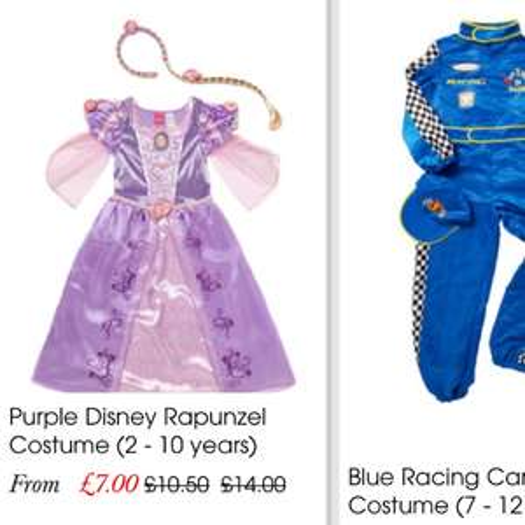 Various fancy dress reduced to half price - £7 @ TU Sainsbury's on line - £3 c&c