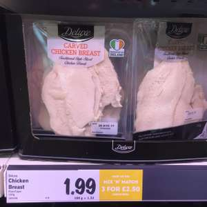 Lidl 450g carved chicken breast for £2.50