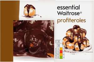 essential Waitrose profiteroles (420g) was £2.99 now £1.99 @ Waitrose