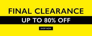 80% off clearance and up to £30 voucher @ Moss Bros