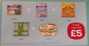 Frozen meal deal £5 / £4.50 NUS @ CO-OP Ends 5th Sept