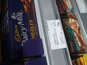 Cadburys Dairy Milk Chocolate Medley: Fudge 75p @ Co-op
