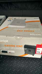 Large cross cut shredder £7 @ aldi instore - Halewood