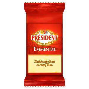 Président Emmental (200g) was £2.20 now £1.46 @ Ocado