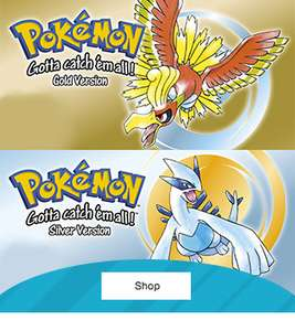 Nintendo UK Store - Pokemon Gold/Silver (Code in a box) [Nintendo 3DS] - Pre-order - £8.99 (+ £1.99 delivery on orders under £20)