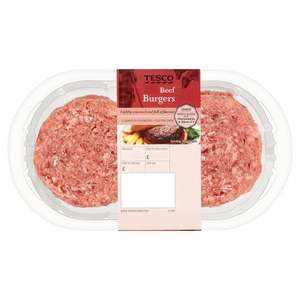 4 1/4Lb Beef Burgers 454G - £1.25 @ Tesco (From 23.08.2017)