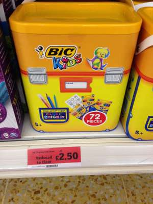 Bic 72 piece kids drum selection. £2.50 instore sainsburys