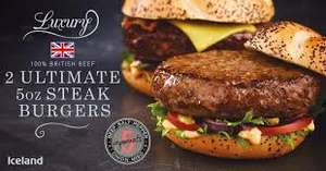 7 Day Deal Iceland Luxury 2 Ultimate 5oz Miso Steak Burgers 284g £1 @Iceland