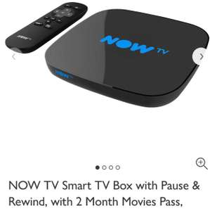 Smart NowTV box inc 2 month Movie Pass for £29.99 at John Lewis