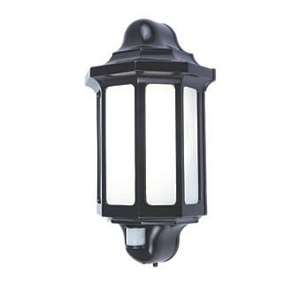 LAP1818-PIR LED Outdoor Half Lantern & PIR Black 500lm 15W at Screwfix for £10.49