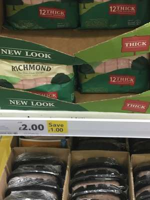 12 Thick Richmond sausages £2 Tesco
