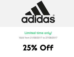 Adidas student discount has been upgraded to 25% until 27/08