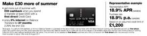 £30 cashback on First Direct credit card