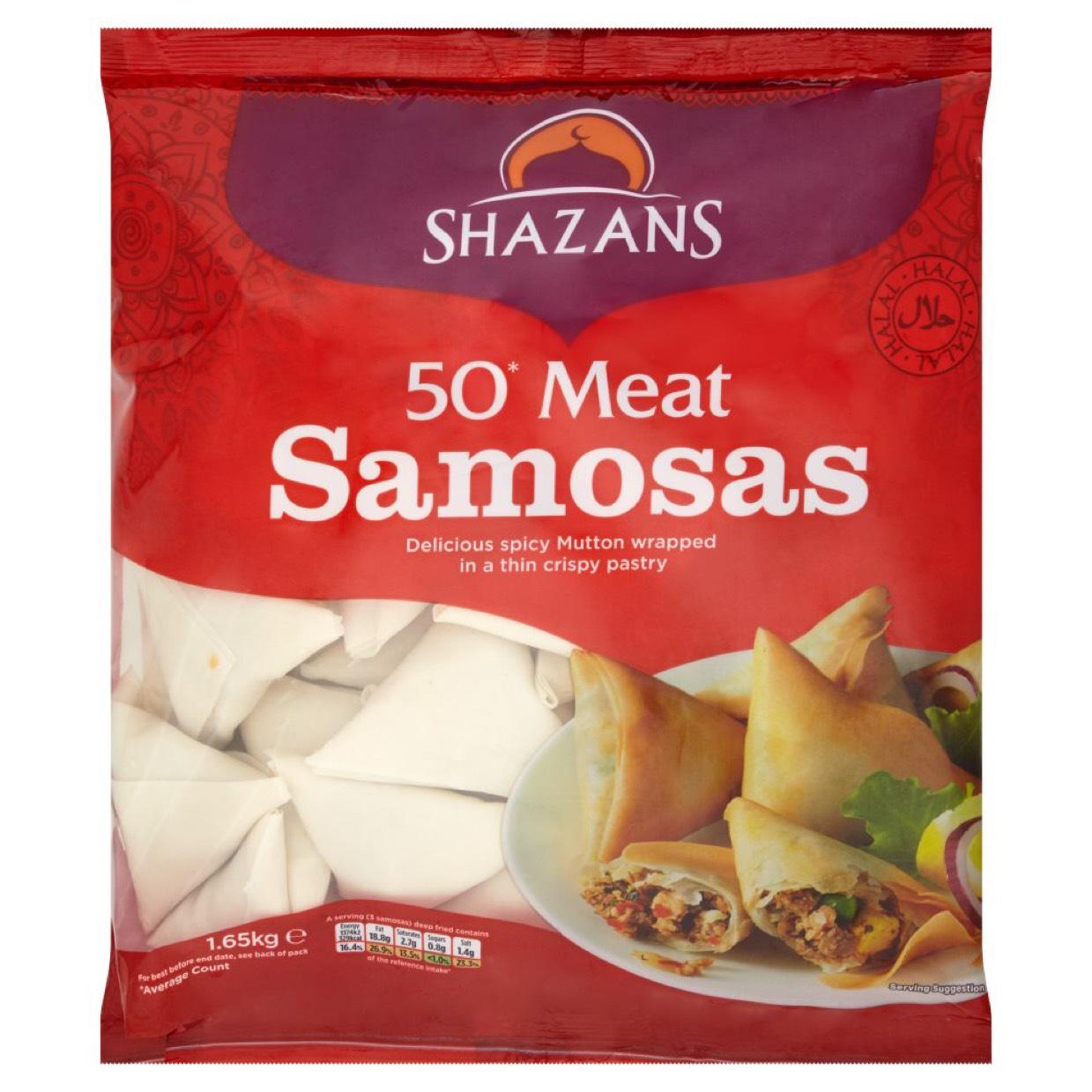 50 Shazans Samosas back to £4.75 again @ Asda