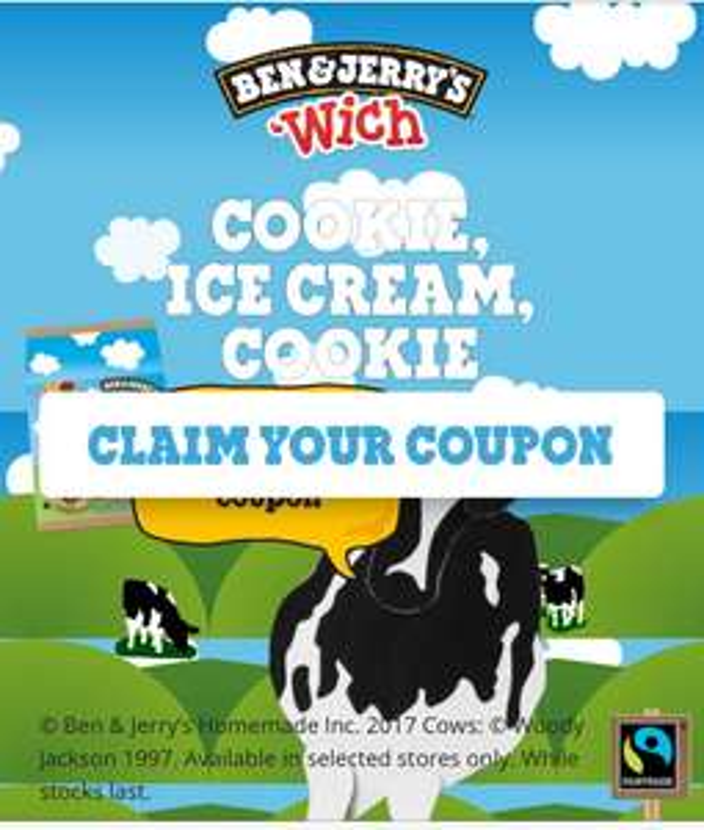 £2 off Ben & Jerry Ice cream